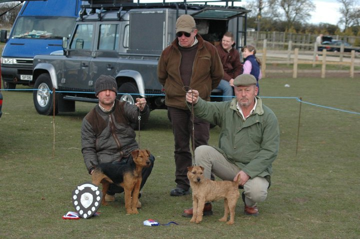 Best Coloured Terrier (left) & Reserve